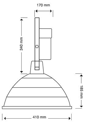 Reflector campana aluminio 18 pulgadas aditivo met lico - Campana extractora medidas ...